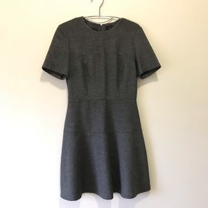 Zara women shirt dress XS dark grey